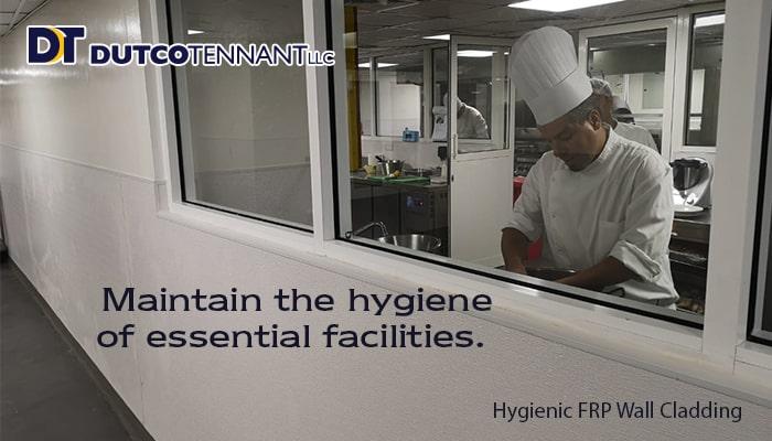 FRP Hygiene wall cladding