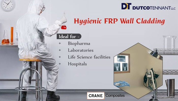 Hygienic FRP Wall Cladding - Crane Composites