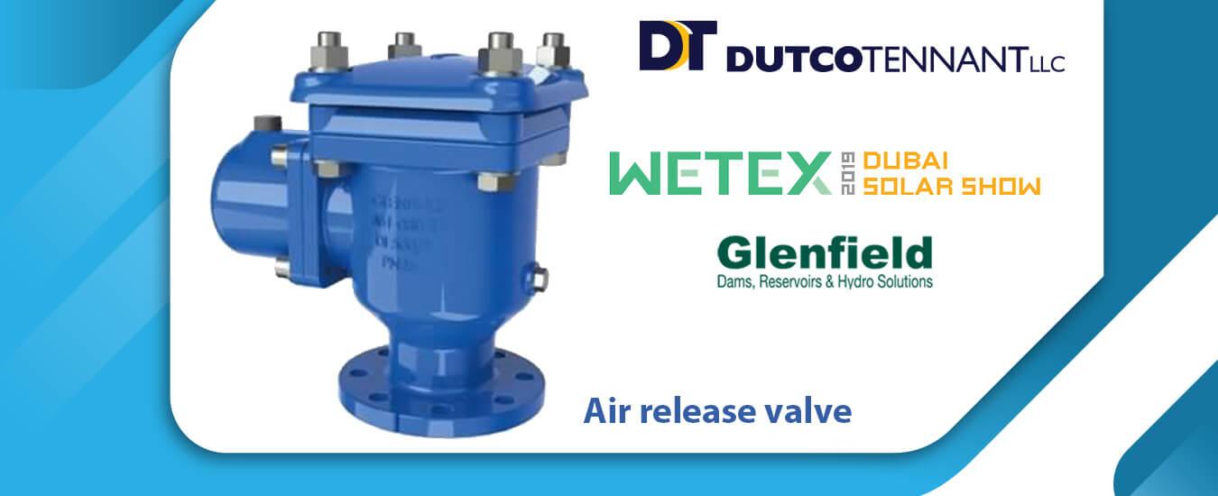 Air release valve banner