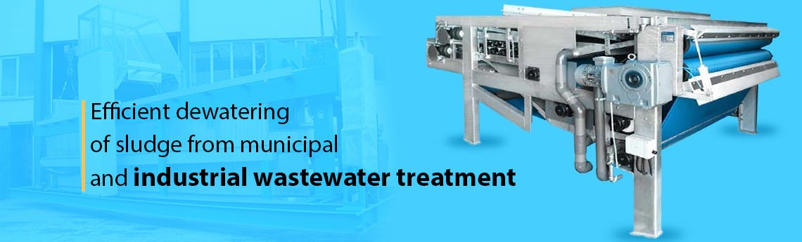 Wastewater Sludge Dewatering Belt Presses
