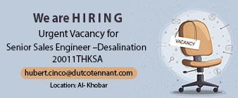 senior sales engineer desalination