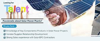 business development manager solar power plant