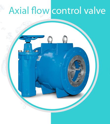 Axial flow control valve Banner