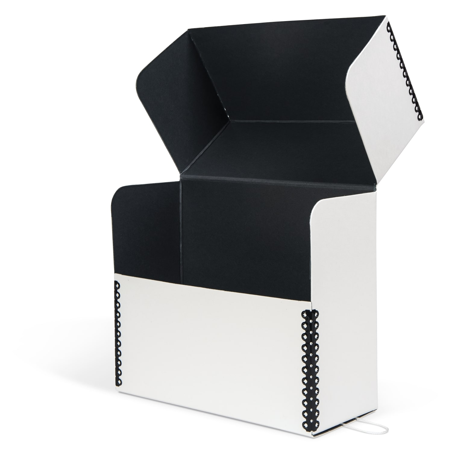 White Barrier Board Flip-Top Document Case Archival & Library Solutions