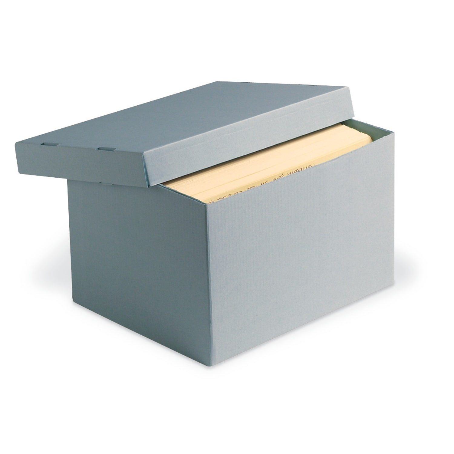 Blue Classic Record Storage Carton without Handholds Archival & Library Solutions