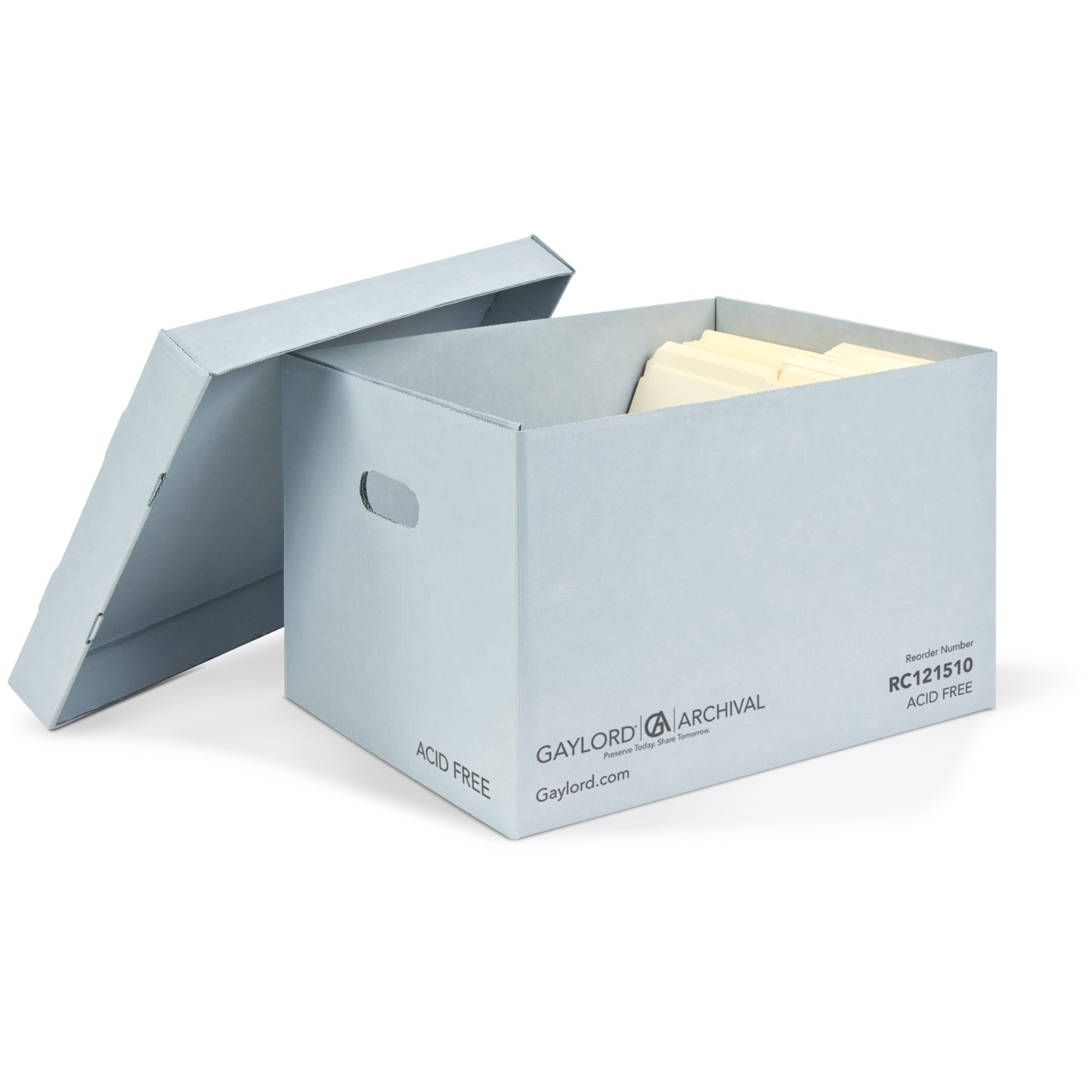 Blue Classic Record Storage Carton with Handholds 0