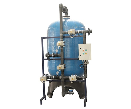Water Treatment Sand / Media / Dual Media Filtration Domestic Water Treatment Systems