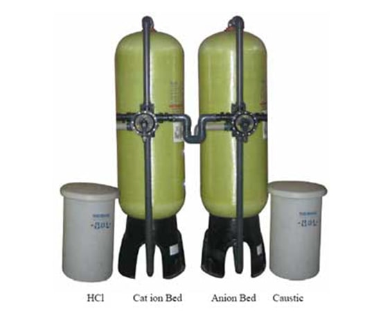 Demineralization / Deionization for Industrial Filtration Plants Waste Water Treatment Process Plant