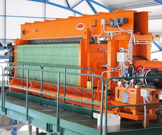 Filterpress for Wastewater Solutions Waste Water Treatment Process Plant