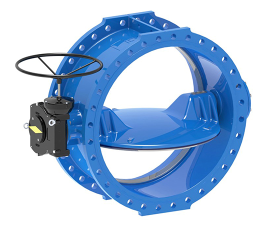 IPS Flanged Butterfly Valve Irrigation Pumping Station