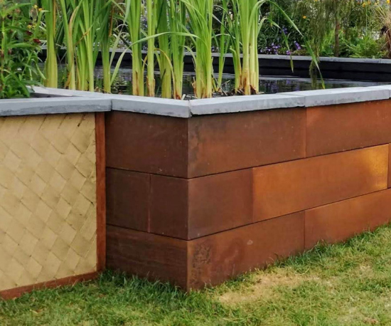 Varied height planter box Landscape & Irrigation