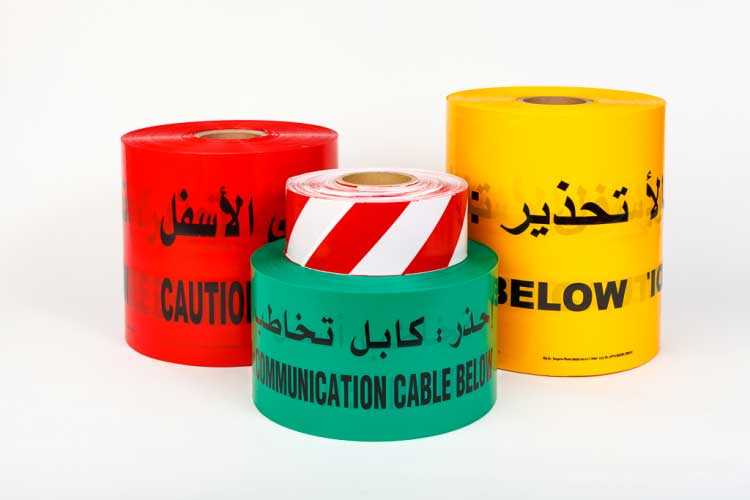 Non-Detectable - Warning Tape Roads & Utilities