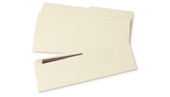 Buffered Text Negative Strip Envelopes