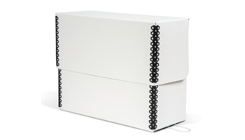 White Barrier Board Flip-Top Document Case