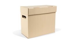 Flip-Top Half-Size Letter Record Storage Carton