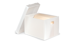 Corrugated Polypropylene Record Storage Carton