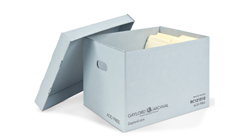 Blue Classic Record Storage Carton with Handholds
