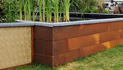 Varied height planter box