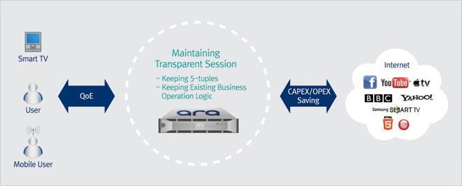 Transparent Caching Data Traffic Management and Delivery