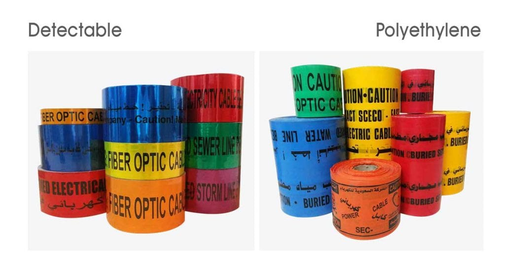 Warning Tape_Detectable Type, Non Detectable Potable Water